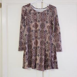 Lush Mini Dress - brown